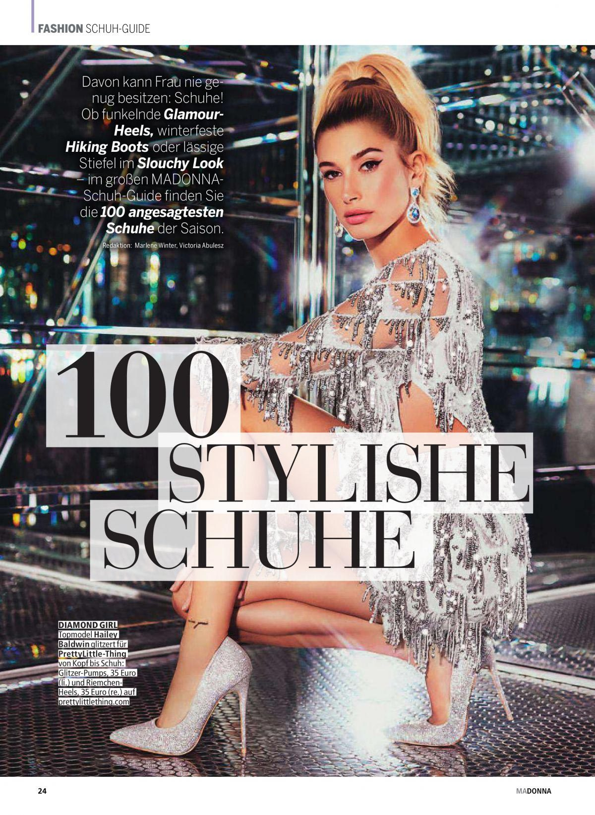 Hailey Baldwin in Madonna Magazine, November 2018 1