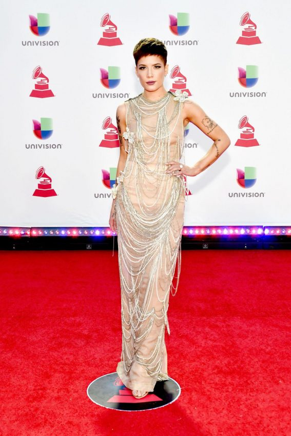 Halsey at 2018 Latin Grammy Awards in Las Vegas 2018/11/15 1