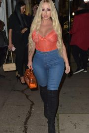 Holly Hagan Night Out in London 2018/11/18 8