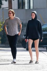 Ireland Baldwin and Noah Schweizer Out for Lunch in Los Angeles 2018/11/17 10