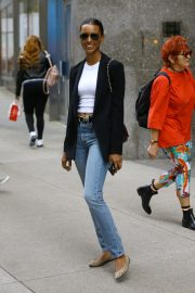 Jasmine Tookes at Victoria's Secret Offices in New York 2018/11/02 2
