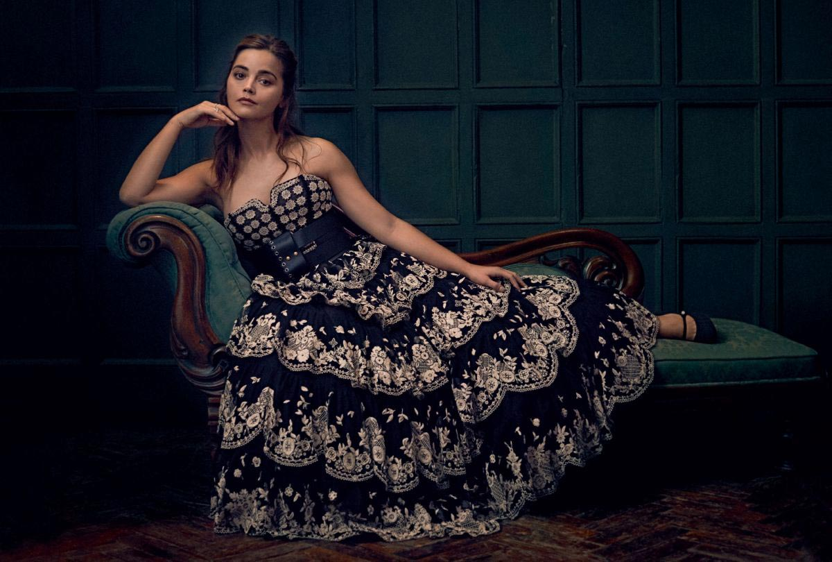 Jenna Coleman in Harper's Bazaar Magazine, UK December 2018 1