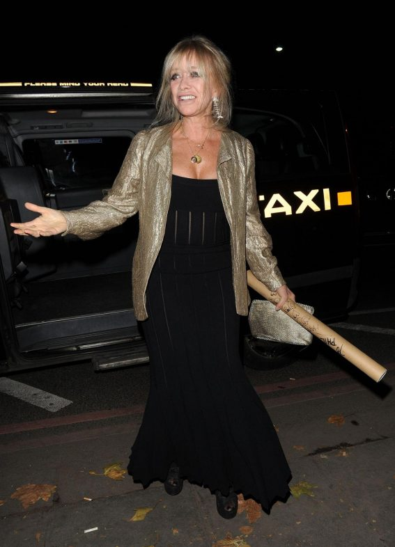 Jo Wood Arrives at Phil Turner's 50th Birthday Party in London 2018/11/14 1