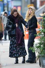 Juno Temple and Lily James Out in New York 2018/11/20 1