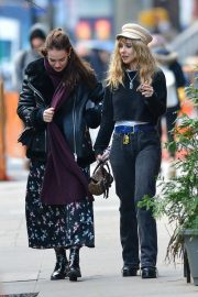 Juno Temple and Lily James Out in New York 2018/11/20 2