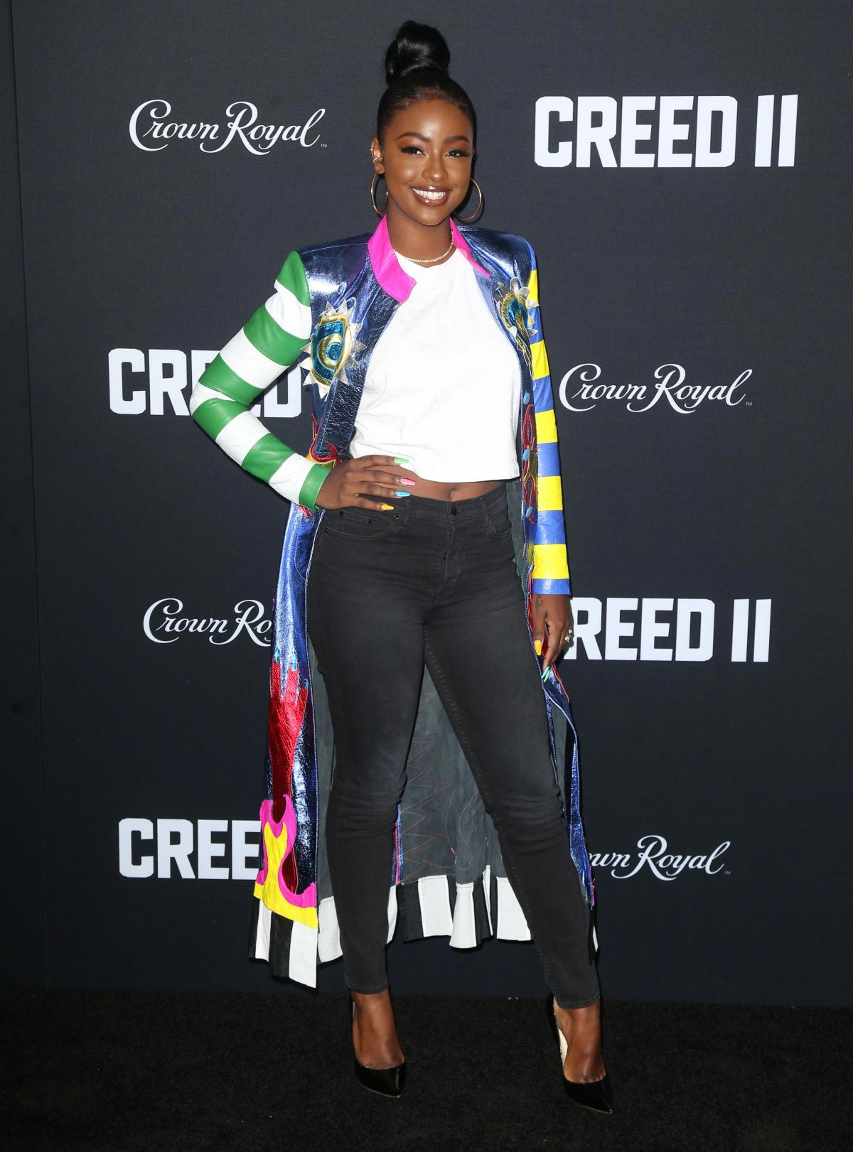 Justine Skye at Creed II Premiere in New York 2018/11/14 1