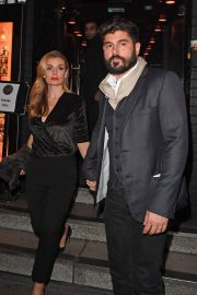 Katherine Jenkins and Andrew Levitas Leaves Ronnie Scott's Private Members Club in London 2018/11/16 1