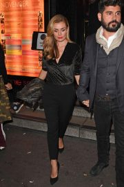 Katherine Jenkins and Andrew Levitas Leaves Ronnie Scott's Private Members Club in London 2018/11/16 3