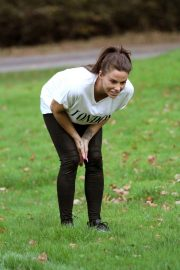 Katie Price Trains Her Dog at a Park in Brighton 2018/11/25 11