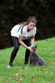 Katie Price Trains Her Dog at a Park in Brighton 2018/11/25 13