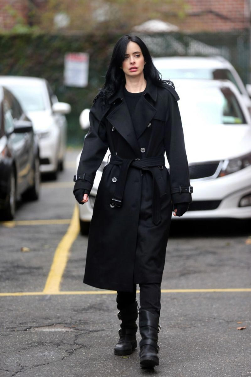 Krysten Ritter on the Set of Jessica Jones, Season 3 in New York 2018/10/31 1