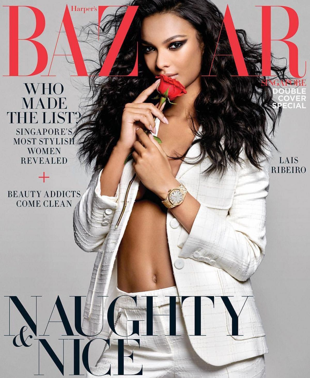 Lais Ribeiro on the Cover of Harper's Bazaar Magazine, Singapore December 2018 1