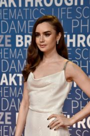Lily Collins at 2019 Breakthrough Prize in Mountain View 2018/11/04 2