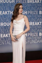 Lily Collins at 2019 Breakthrough Prize in Mountain View 2018/11/04 3