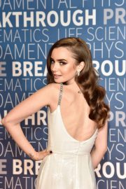 Lily Collins at 2019 Breakthrough Prize in Mountain View 2018/11/04 5