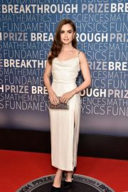 Lily Collins at 2019 Breakthrough Prize in Mountain View 2018/11/04 6