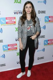 Lily Collins at Telethon for America at Youtube Space LA in Los Angeles 2018/11/05 1