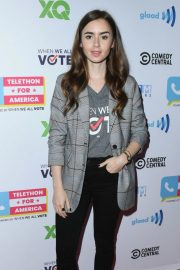 Lily Collins at Telethon for America at Youtube Space LA in Los Angeles 2018/11/05 7