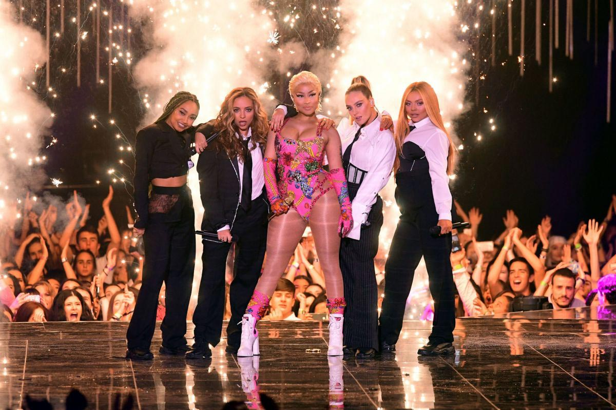Little Mix and Nicki Minaj Performs at at MTV EMA's 2018 in Bilbao 2018/11/04 1