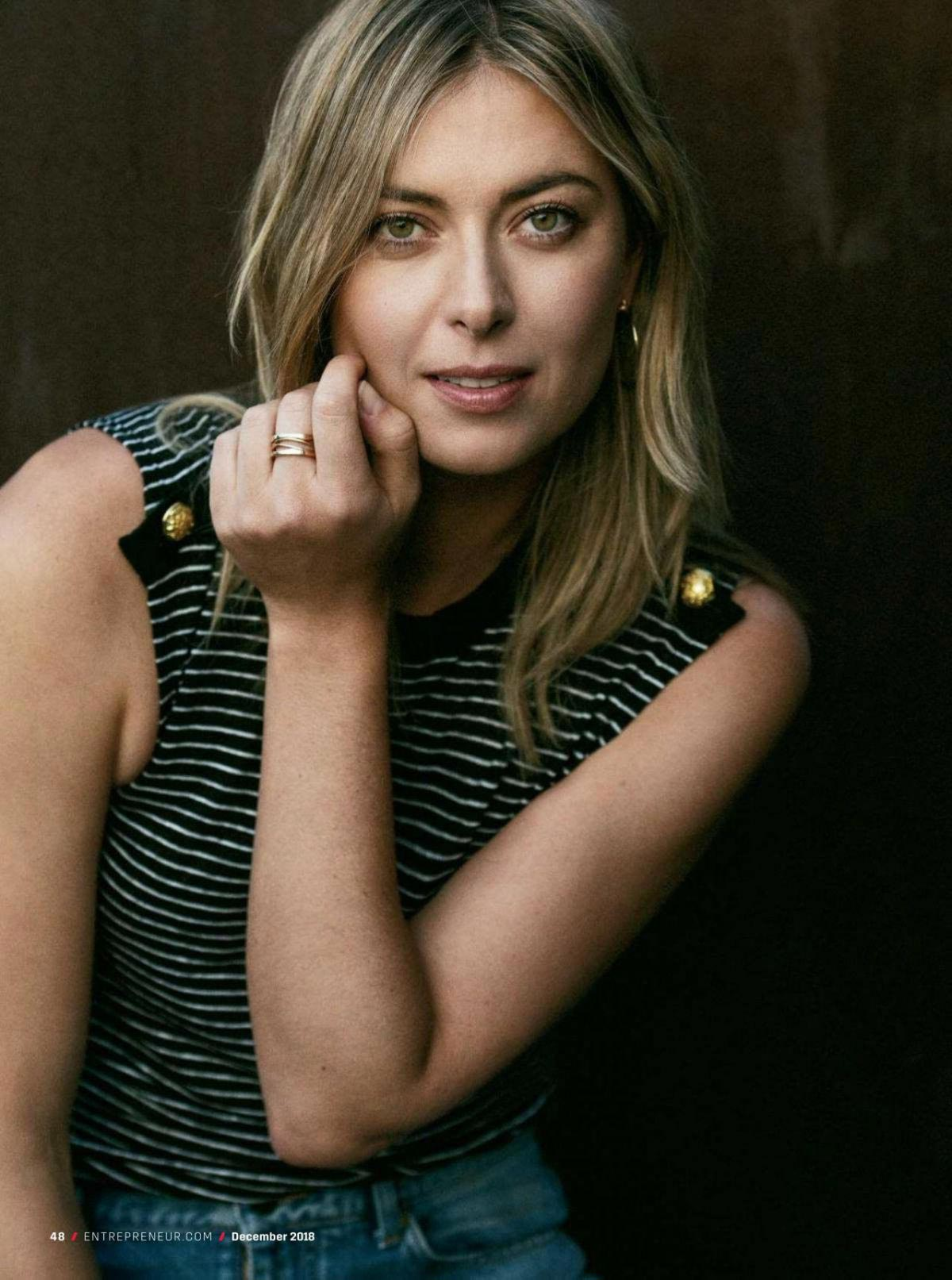 Maria Sharapova in Entrepreneur Magazine, December 2018 1