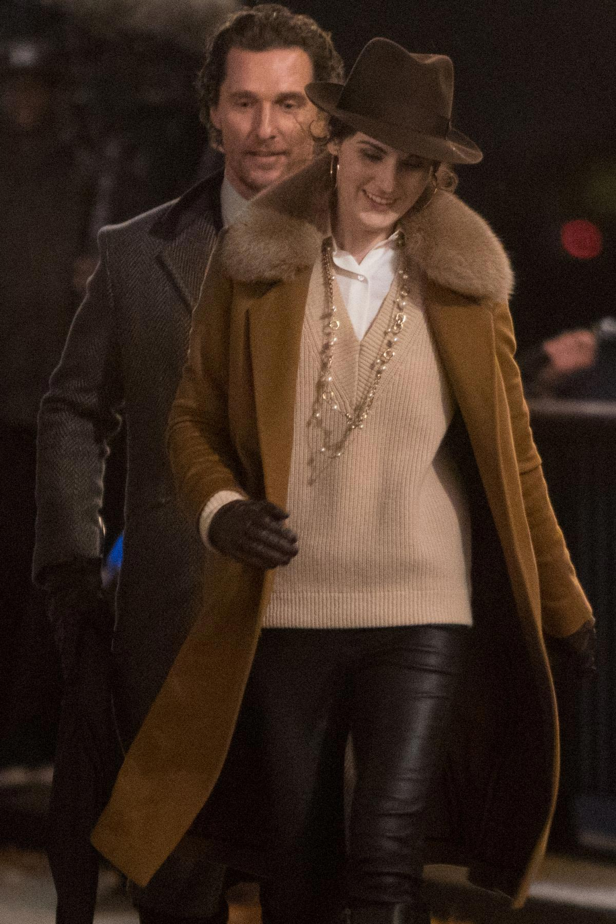 Michelle Dockery Filming Scenes on Thames Southbank 2018/11/28 1