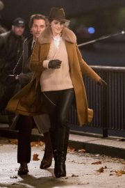 Michelle Dockery Filming Scenes on Thames Southbank 2018/11/28 2