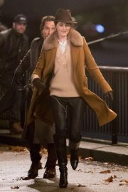 Michelle Dockery Filming Scenes on Thames Southbank 2018/11/28 3