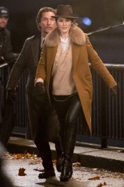 Michelle Dockery Filming Scenes on Thames Southbank 2018/11/28 6