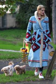 Michelle Hunziker Out with Her Dogs in Milan 2018/11/21 2