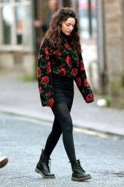 Michelle Keegan on the Set of Brassic in Lancashire 2018/11/26 1