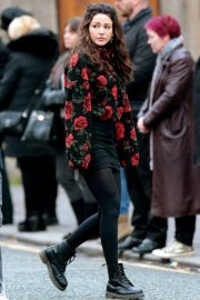 Michelle Keegan on the Set of Brassic in Lancashire 2018/11/26 3