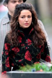 Michelle Keegan on the Set of Brassic in Lancashire 2018/11/26 8