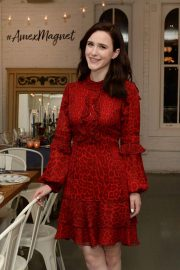 Rachel Brosnahan at Kicks Off Holidays and Keeps it Simple with American Express Cash Magnet Card in New York 2018/11/26 7