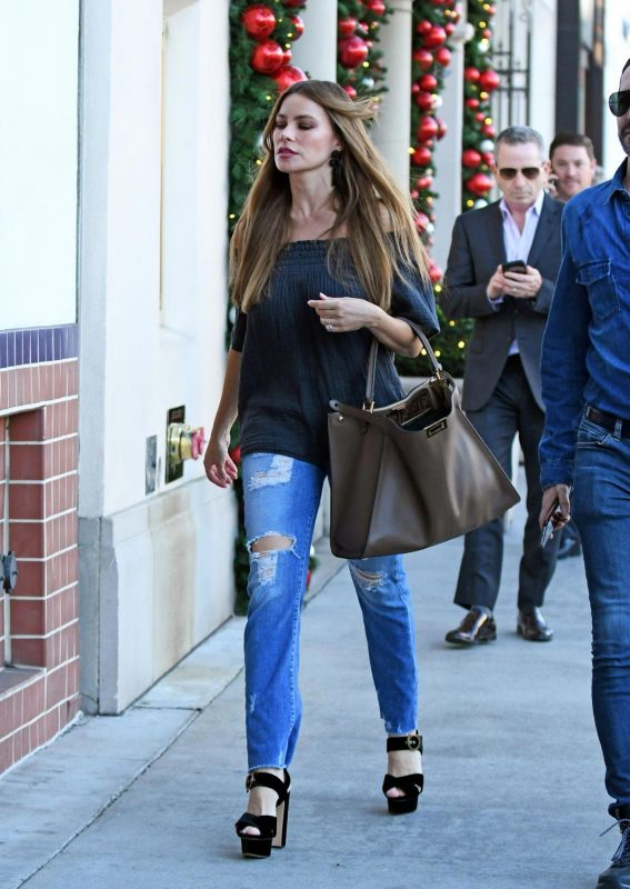 Sofia Vergara in Ripped Jeans Out Shopping in Beverly Hills 2018/11/20 1