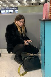 Thylane Blondeau at Orly airport in Paris 2018/11/24 4