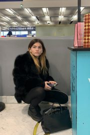 Thylane Blondeau at Orly airport in Paris 2018/11/24 7