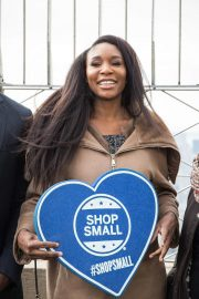 Venus Williams Lights Empire State Building in Support of Small Business 2018/11/21 4