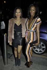 Victoria Ekanoye and Tisha Merry at Ivy Spinningfields VIP Launch Party in Manchester 2018/11/23 2