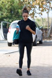 Alessandra Ambrosio Heading to a Gym in Los Angeles 2018/12/12 6