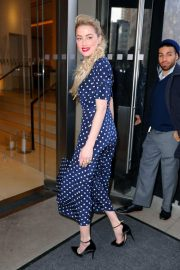 Amber Heard Arrives at Live with Kelly and Ryan in New York 2018/12/05 2