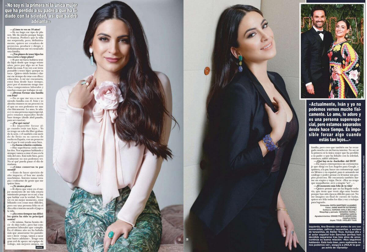 Ana Brenda Contreras in Hola Magazine, December 2018 1