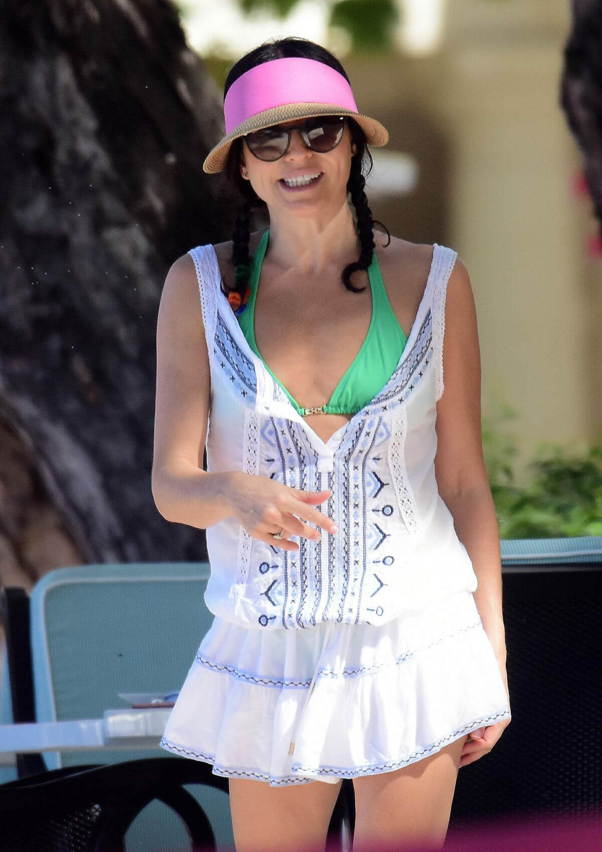 Andrea Corr on the Beach in Barbados 2018/12/24 1