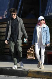 Ashley Tisdale and Christopher French at All Time Eatery in Los Angeles 2018/12/30 1