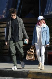 Ashley Tisdale and Christopher French at All Time Eatery in Los Angeles 2018/12/30 2