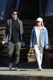 Ashley Tisdale and Christopher French at All Time Eatery in Los Angeles 2018/12/30 3
