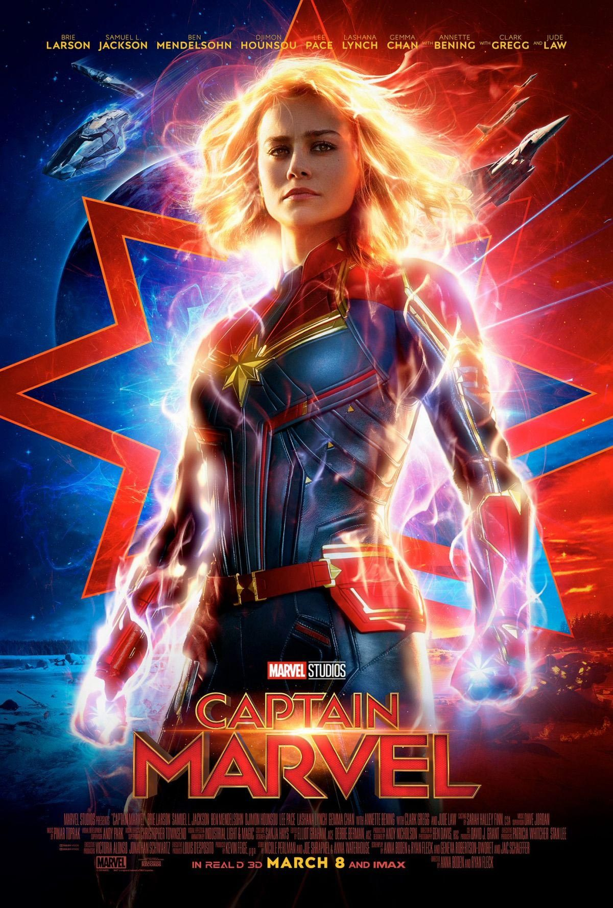 Brie Larson at Captain Marvel 2019 Poster 1