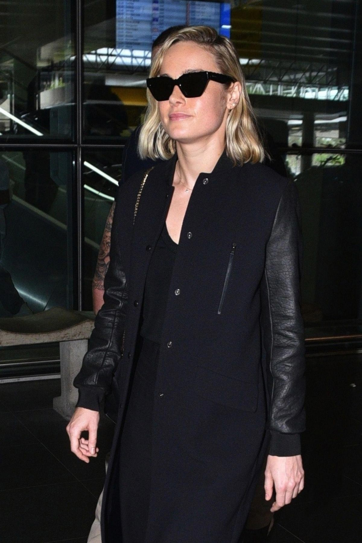 Brie Larson at Guarulhos Airport in Sao Paulo 2018/12/07 1