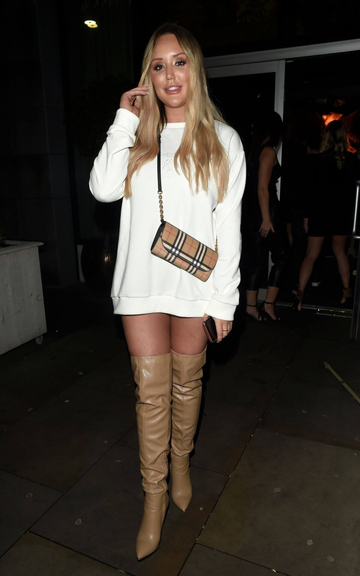 Charlotte Crosby and Josh Ritchie at Menagerie Bar in Manchester 2018/12/26 1