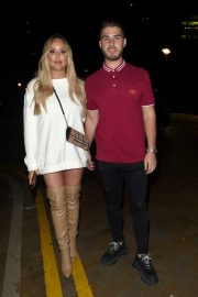 Charlotte Crosby and Josh Ritchie at Menagerie Bar in Manchester 2018/12/26 2