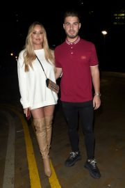 Charlotte Crosby and Josh Ritchie at Menagerie Bar in Manchester 2018/12/26 7